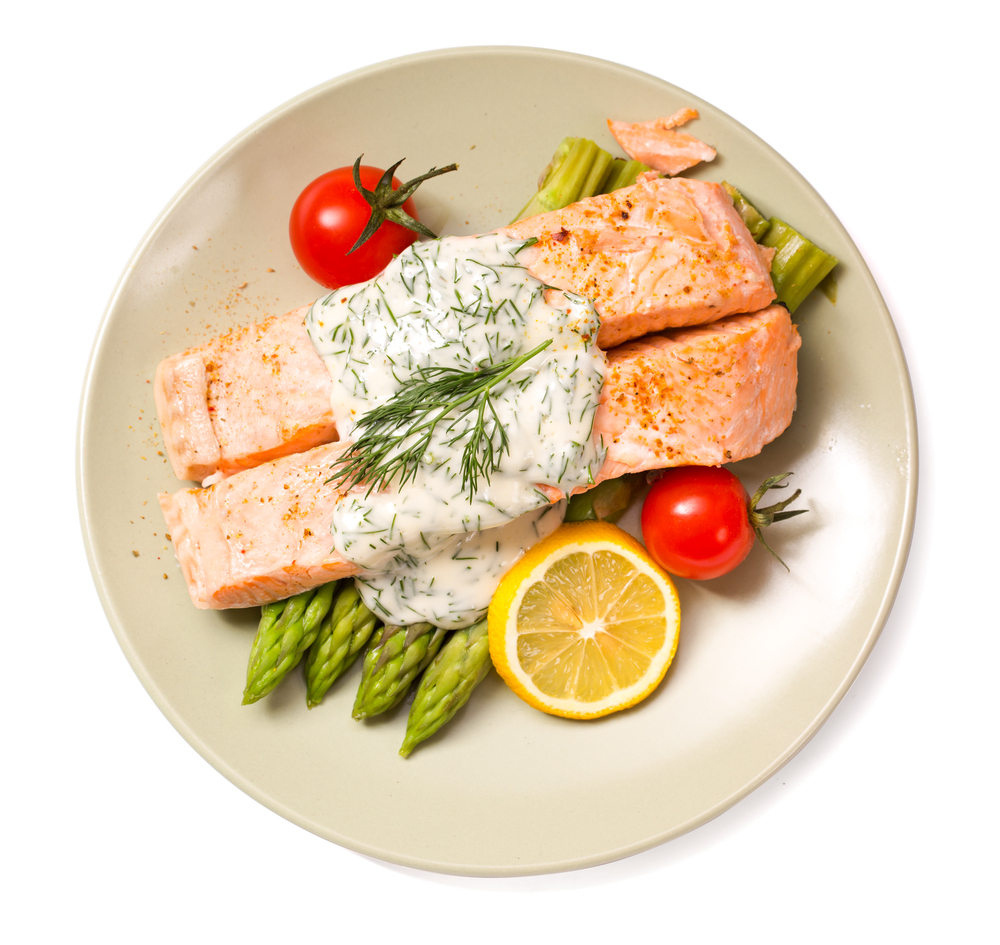Grilled salmon&  & Dill Yogurt Sauce Recipe.